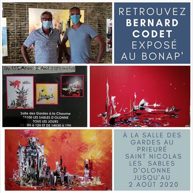 Tableaux de Bernard Codet exposés au Bonap'